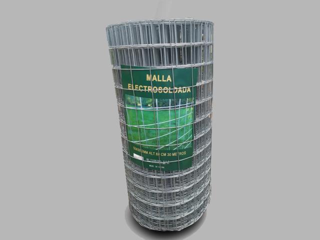 MALLA ELECTROSOLDADA-0'60 M. ALT., CUADRO 50x50, A